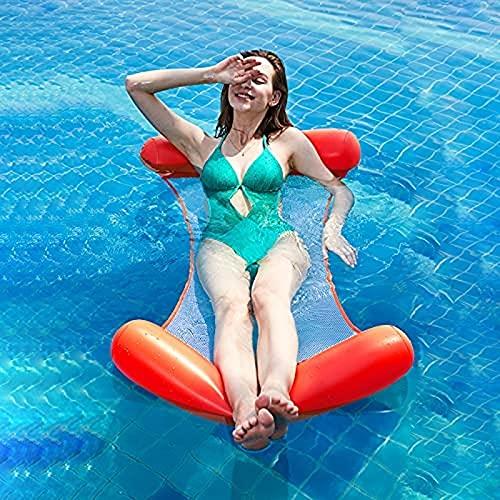 Portonss vatten hängmatta, pool strand flytande lounge stol uppblåsbara hängmatta stol drifter vuxen barn flytande säng (130 70 cm)