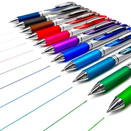Pentel EnerGel XM BL77 Lot de 11 stylos à encre gel liquide rétractable 0,7 mm 52 % recyclé