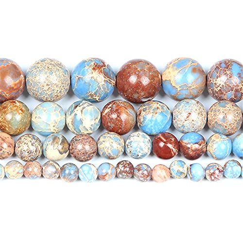 Piedra natural turquesa malaquita mar sedimentos ágatas perlas sueltas para hacer joyas DIY pulseras 4/6/8/10/12 mm H7215 4mm aproximadamente 32pcs
