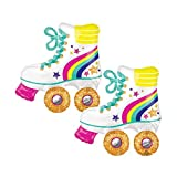 Set of 2 Glitter Roller Skate 30' Foil Party Balloons