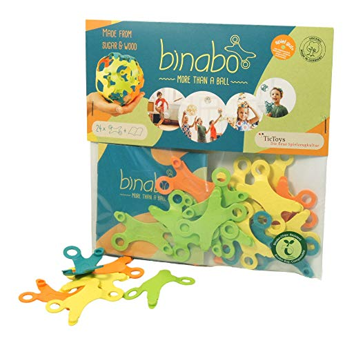 Binabo Construction Toy (24 Piece Starter Set) - Open-Ended, Easy Connections, Create Anything! - Made from 100% Renewable Resources