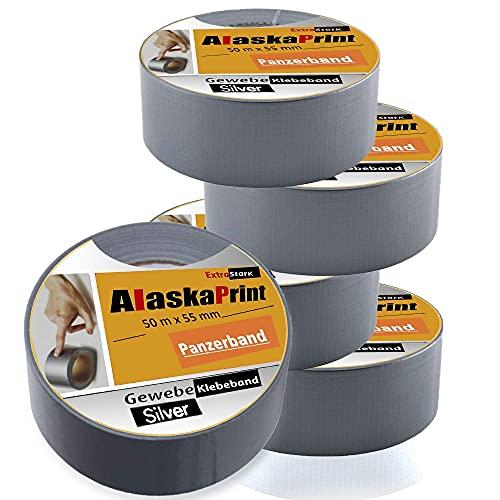 Alaskaprint 5x Panzerband Gewebeklebeband Ducttape Steinband Bild