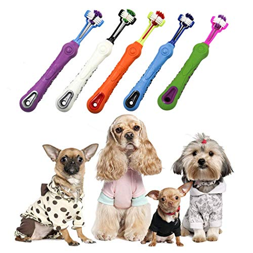 Dog Toothbrush, Three Sided Dent...