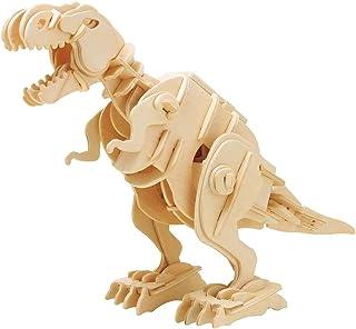 MUANSER Caminar Dinosaurio 3D Rompecabezas de Madera Craft Kit para Niños, Control Sonido Robot de calar Kits Modelo para 8+ Yrs Niño Niña Adolescente para Adultos
