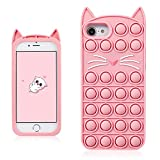 Coralogo Pink Cat Case for iPhone 6/6S/7/8/SE 2020...