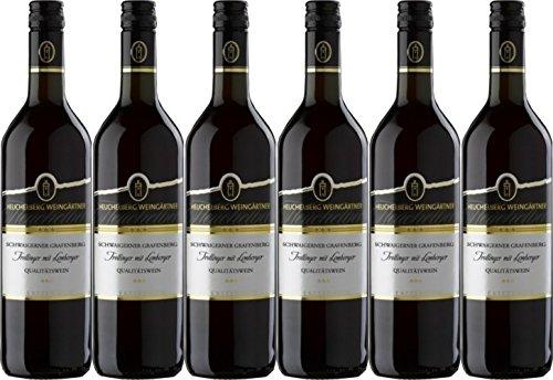Heuchelberg Weingärtner Schwaigerner Grafenberg Trollinger mit Lemberger Qualitätswein halbtrocken (6 x 0,75L)