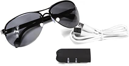 Video Sunglasse Mini Camera HD Sunglasses 1080P Glassess Micro Video Camera Recorder Secret DV Security Bicycle Invisible Fashional (Add 32G TF Card)