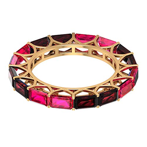 Rosec Jewels 10 quilates oro amarillo Octagone Red Ruby Garnet