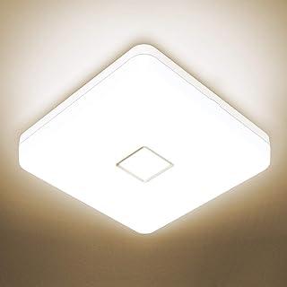 Onforu 24W Plafonnier Salle de Bains, Étanche LED Plafonnier Carré Moderne, 2100LM Lampe de Plafond 4000K Blanc Neutre, Lu...