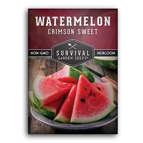Survival Garden Seeds - Crimson Sweet Watermelon Seed for Planting - Packet with...