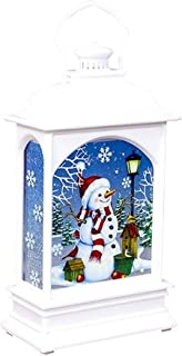 Karooch Painted Portable Christmas Lights, Christmas Decorations Red Old Man Decorations Ornaments Craft Home Decor Pendant, Led Lhome Deco Lights Lamp, Suitable for Christmas Tree Hanging (White)