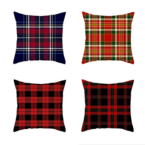 New 4 Piece Set Cartoon Printed Cotton Linen Christmas Pillowcase Office Sofa Cushion Cover 45 X 45 CM Cushion Cover-Style:5