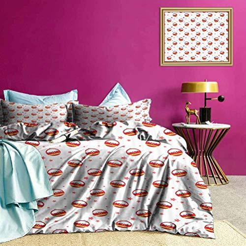 Adorise colchas para Las cobijas Noria Coches Ultra Suave Duvet Cover Set para el Dormitorio Mujeres y los Hombres 's - Tamaño Twin