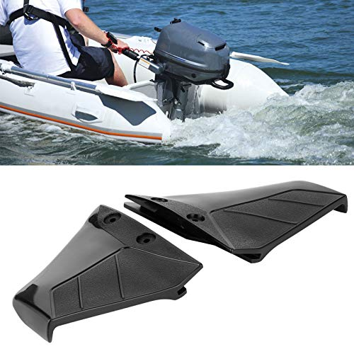 Bigking Outboard Hydrofoil,Pair Small Hydrofoil Boat Motor Stabiliser Enigne Components for 4‑50HP Outboard with Bolt Nut