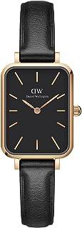 Sponsored Ad - Daniel Wellington Quadro Sheffield Watch, Italian Black Leather Band, 20x26mm