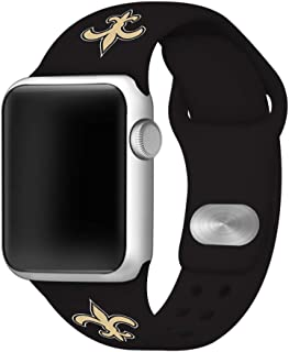 Game Time New Orleans Saints Silicone Sport Band Compatible with Apple Watch - Band ONLY (38mm/40mm)