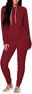 Women Pullover Hoodie Pockets Sweatpants Sport Jogger Sweatsuit