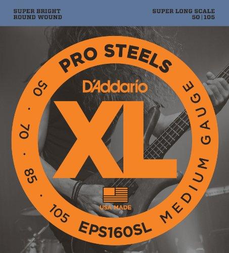 D'Addario EPS160SL - Juego de cuerdas para bajo eléctrico de acero.050 - .105
