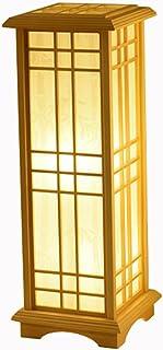 Lampadaires Luminaires intérieur Lampe sur Pied Lampadaire en bois de style japonais, lampe standard rectangulaire pour la...