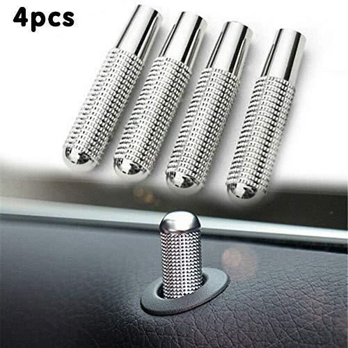 BAAQII 4X Türverriegelungsstift Knopf Knopf Abdeckung für Mercedes Benz W205 W166 W213 C GLE GLC