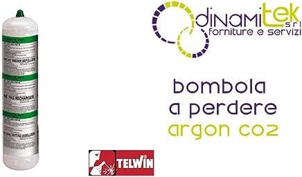 Telwin - Bombona gas argón+CO2, 1 l, no recuperable