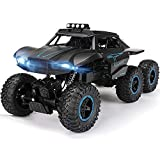 PETRLOY Control remoto coche todoterreno con Luz RC coche de competición de alta velocidad 6WD Buggy de carga inalámbrica súper grande Modelo Vehículo de todo terreno Escalada a la deriva/Trucos de
