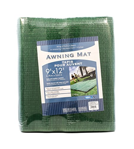 Camco Durable Reversible RV Camper Awning Mat- Mildew and Rust Resistant Help Prevents...