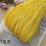 Hilo de Paja de Rafia Crochet para Tejer DIY Sombrero de Paja de Verano Bolsos Cojines Cestas Material Hilo 500 g/Lote, Amarillo