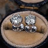 XIAOMAI Boucles d'oreilles Moissanite pour Femmes Bijoux de Mariage étincelants en Argent Sterling 925
