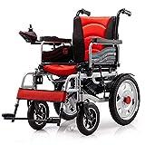 GJJSZ Silla de Ruedas eléctrica Exterior Plegable Ayuda para discapacitados Coche Smart Smart Compacto Automático Portátil Ligero Scooter Instalación Gratuita