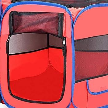 BACKZY MXJP Chenil Chat en Plein Air Respirant Cage Intérieure Chenil Nid Parc Clôture Parc pour Chiot Transporteur Maison Cage Accessoires Fournitures XS