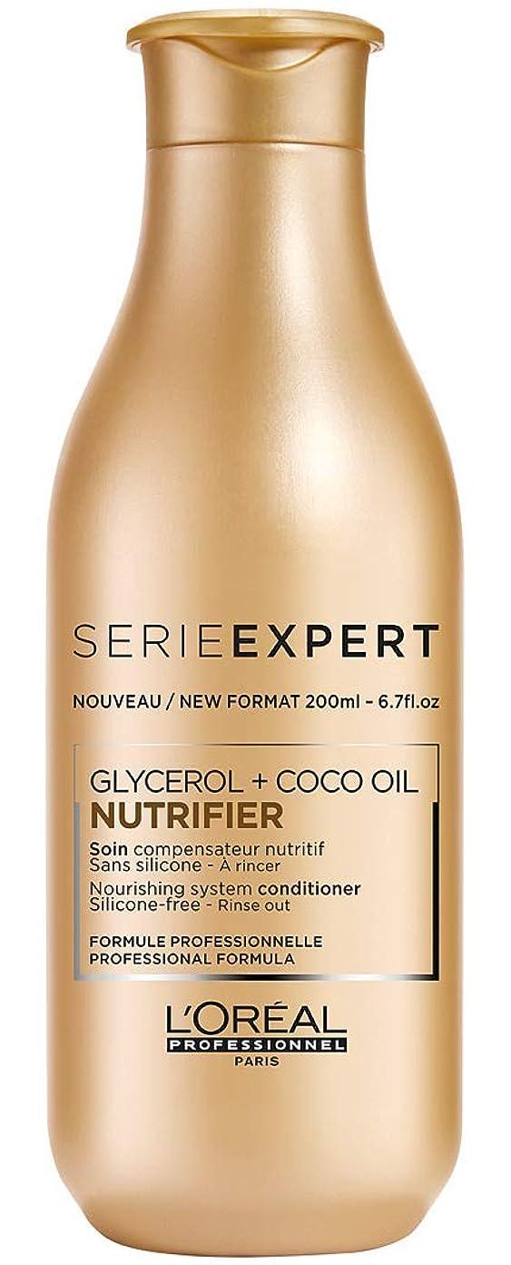 オリエンテーション葬儀離れたロレアル Professionnel Serie Expert - Nutrifier Glycerol + Coco Oil Nourishing System Silicone-Free Conditioner - Rinse Out 200ml/6.7oz並行輸入品