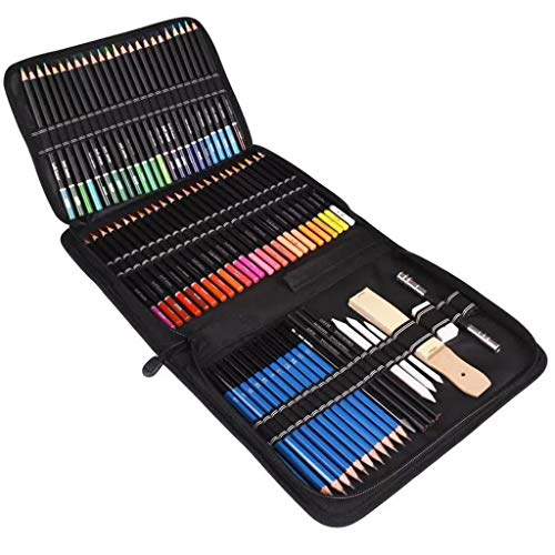 Juego de 95 Piezas de Pintura Juego de lápices de Colores de 95 Piezas de Pintura Kit de Dibujo Arte