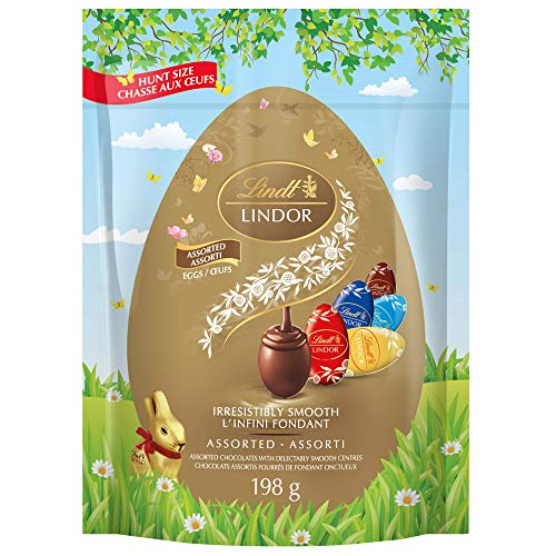Lindt Lindor Assorted Chocolate Easter Eggs, 198g Pouch, 198 Grams