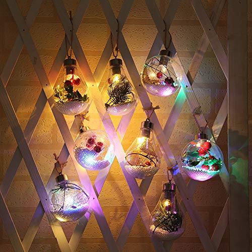 Wankd Led-gloeilamp met decoratie, 1 stuks, plantenbak om op te hangen, terrarium, gloeilampen, design glas voor vetplanten/bromelienkas, air-plantenbak, voor home kantoor, bruiloft, decoratie