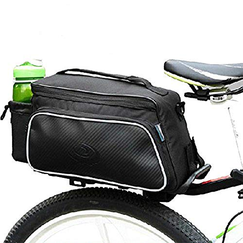 Meanhoo Bike Rack Bag- Waterproof- 1 Pcs Panniers for Bicycles Bicycle Seat Trunk Bag Saddle Bags for Cycling, Hiking, Travelling, Camping, Motorcycle, Black