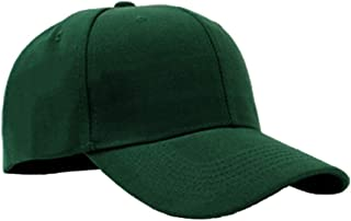 SOL Classic Baseball Cap Plain Adjustable Outdoor Sport Ball Hat - Dark Green