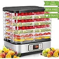 Food Dehydrator Machine, Digital... Food Dehydrator Machine, Digital Timer and Temperature Control, 8 Trays, for...