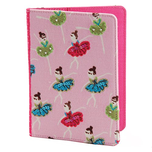 Pinaken Women and Girls Travel Wallet Passport Holder (Jumbo-Trunk, Canvas)