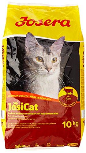 JosiCat Tasty Beef (1 x 10 kg) | Premium Trockenfutter für ausgewachsene Katzen | Katzenfutter | powered by JOSERA | 1er Pack