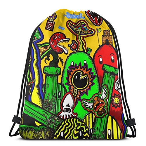 Magical Mushrooms Unisex Drawstring Bag Gym Dance Backpack