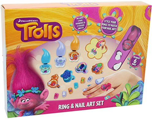 RMS Royal Medical Solutions, Inc. Dream Works Trolls Ring & Nail Art Set