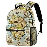 Mochila de viaje para mujer, diseño de mapamundi náutico, mochila de viaje...