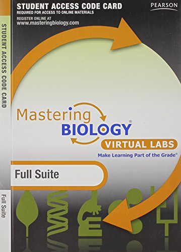 Mastering Biology without Pearson eText for -- Virtual Lab Full Suite -- Standalone Access Card