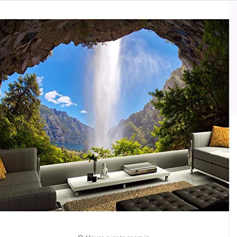 Benutzerdefinierte Wandbild Tapete, Silberinien Waterfalls Crag ...