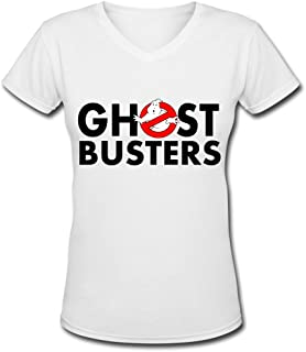 Women A Ghost Busters logo 2016 V necks tee