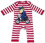 HARIZ Baby Strampler Streifen Polizist Lustig Motorrad Polizei Witizg Plus Geschenkkarten Feuerwehr Rot/Washed Weiß 3-6 Monate