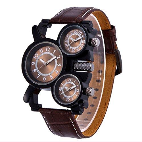 QAR horloge multi-zone leren armband herenhorloge outdoor sport-militair kwartshorloge smartwatch