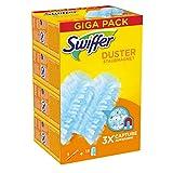 swiffer duster starter kit piumino catturapolvere più ricambi, 1 manico e 15 piumini, catturano e intrappolano fino a 3 volte più polvere e pel rispetto a un piumino tradizionale