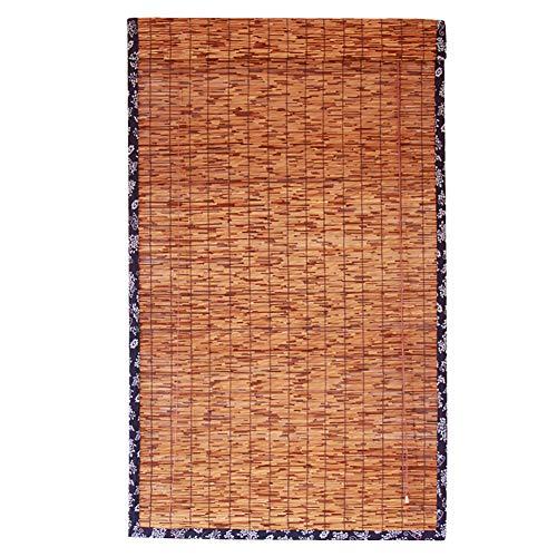 QL Persianas enrollables Ventanas de láminas Naturales Cortinas Decorativas Retro Moho Impermeables para tamaños Personalizables en Interiores/Exteriores